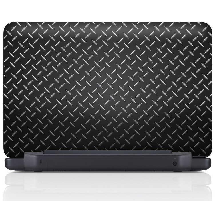 TenStickers. Laptop Aufkleber Metal. Originellen Dekoration für Ihren Laptop? Dann ist dieser Aufkleber im Metall Look genau das passende für Sie.