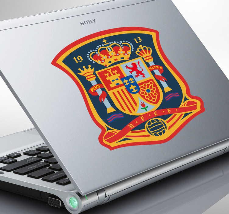 Naklejka na laptopa herb hiszpańskiej drużyny