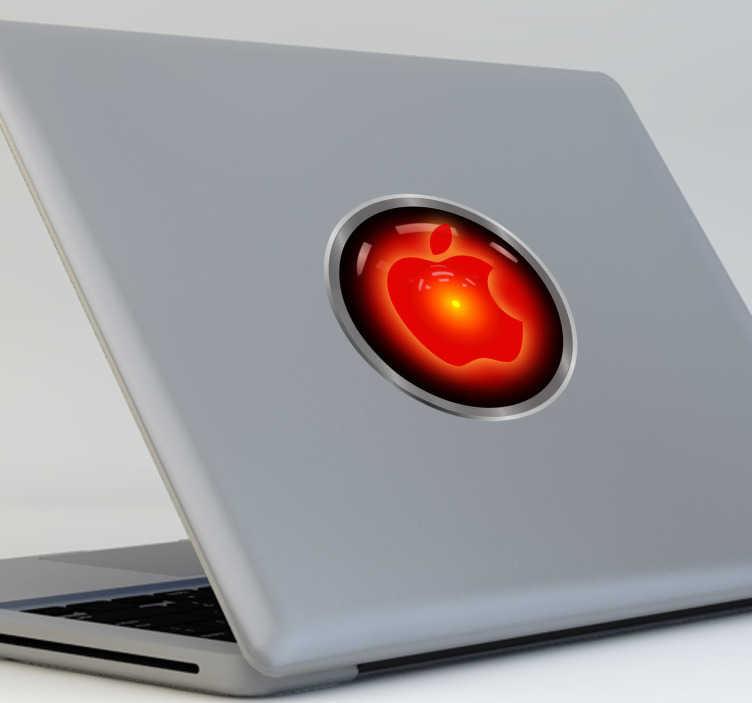 TenVinilo. Vinilo decorativo HAL 2001 para mac. Diseño basado en el ordenador de a bordo de la película 2001 Odisea en el Espacio.