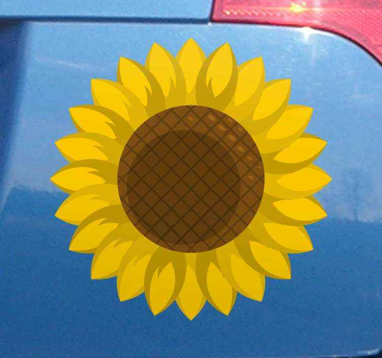 TenStickers. Sunflower car Car Decal. Sunflower car car sticker. This design would be lovely to decorate a lady's car but it also suits for any body.. The size is customisable.