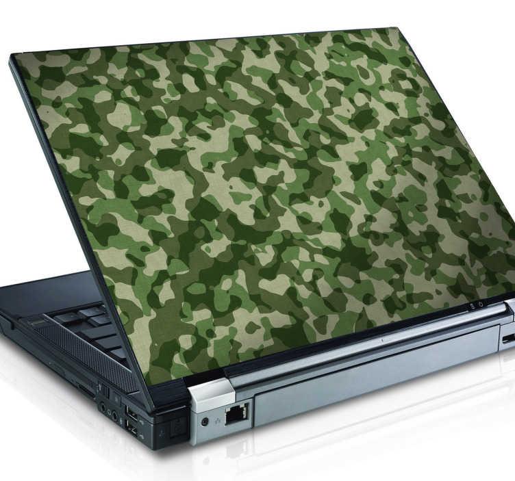 TenVinilo. Vinilo decorativo textura camuflaje. Si te gusta el tema militar o simplemente quieres camuflar del enemigo tu ordenador portátil, esta textura bélica adhesiva es ideal para ti.