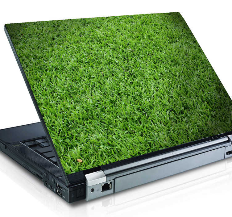 TenStickers. Green Grass Laptop Sticker. A realistic nature decal ideal to give your laptop or tablet a natural touch! Personalise your own device and stand out from the rest.