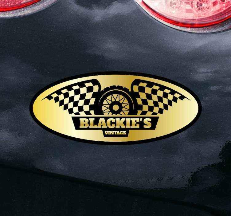 TenStickers. Autocolante decorativo para motas produtovintage do blackie. Mostre seu amor para motocicletas com esta autocolante do vinil autocolante decorativo para o produtodo vintage dos blackies da motocicleta! Seja um motociclista! Entrega ao domicílio!