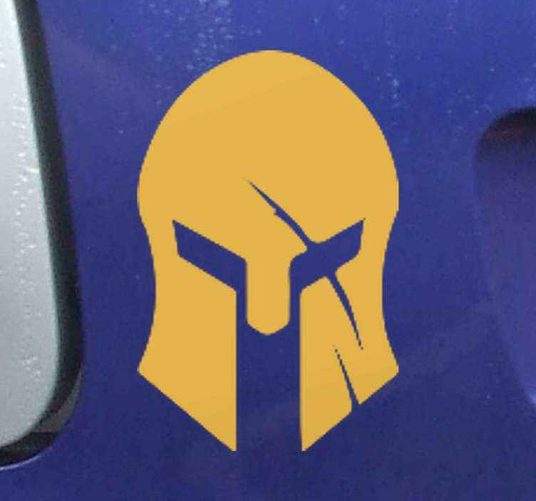 TenStickers. Roman helmet design Motorcycle stickers. Roman helmet sticker for  Motorcycle. A designed silhouette depicting the helmet worn by roman soldiers and warriors. It is original and adhesive.