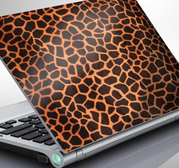 TenStickers. Naklejka dekoracyjna na laptop tekstura żyrafa. Naklejka dekoracyjna na laptop przedstawiająca wzór umaszczenia żyrafy. Oryginalny pomysł na dekorację urządzenia.