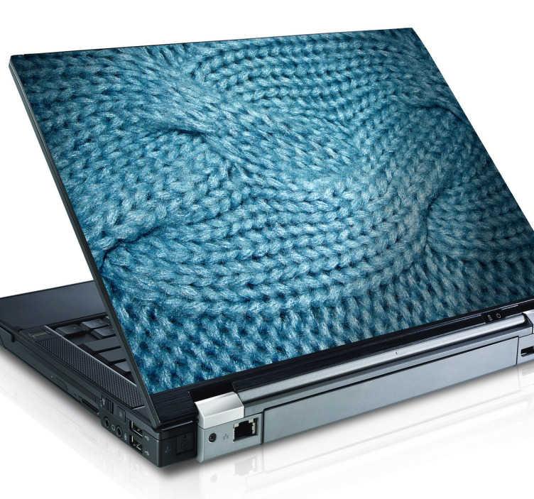 TenVinilo. Vinilo decorativo textura lana. Personaliza tu ordenador portátil y dale abrigo con una fotografía de una pieza de lana tejida.