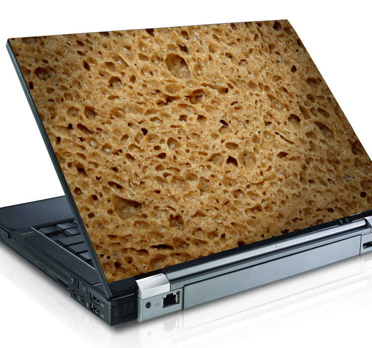 TenStickers. Bread Texture Laptop Sticker. An unusual and quirky laptop decal with a close up photo of some bread.
