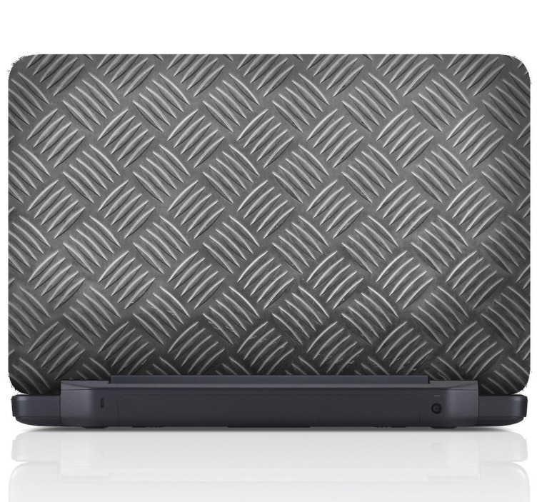 TenStickers. Strukturierter Lapttop Aufkleber. Metallisch gemaserter Aufkleber für den Laptop für eine individuelle, besondere Note