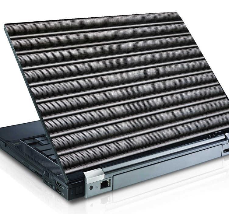 TenStickers. Autocolante decorativo portátil textura persiana. Decore o seu portátil com este autocolante decorativo com as tais famosas persianas de Portugal, para dar um novo look à capa do seu PC.
