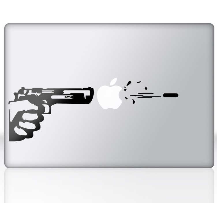 Sticker mac apple arme