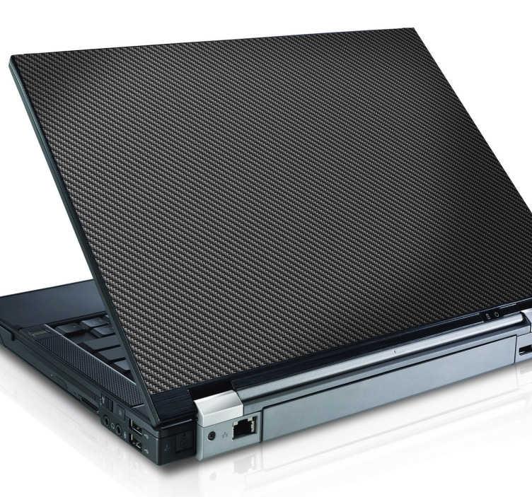 TenStickers. Adesivo speciale carbonio per portatile. Adesso puoi foderare la cover del tuo pc portatile con uno sticker speciale che riproduce la texture della fibra di carbonio, conferendo al tuo dispositivo un aspetto elegante, personale e moderno.