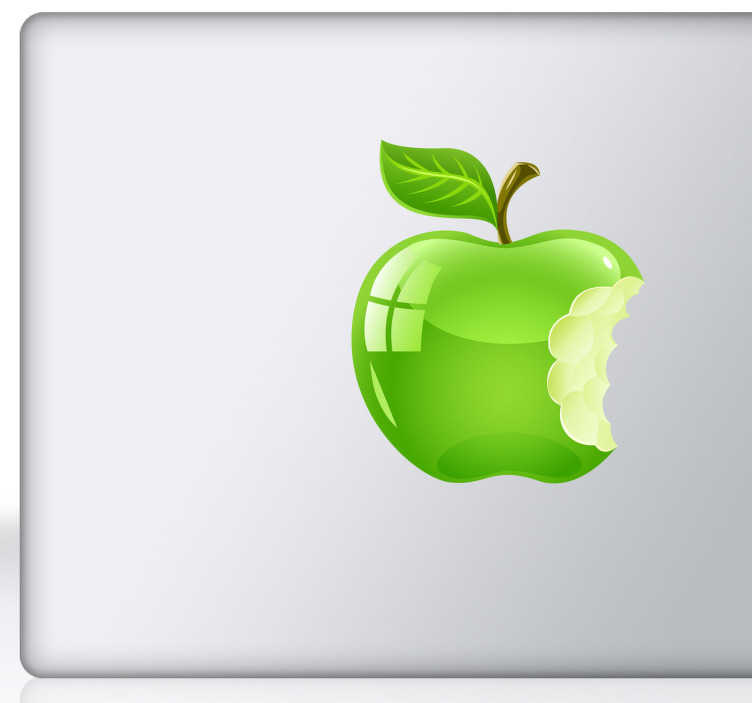 TenStickers. Aufkleber Laptop Apple Logo. Gestalten Sie Ihren Laptop mit diesem witzigen Aufkleber eines angebissenen Apfels,wie das bekannte Apple Logo