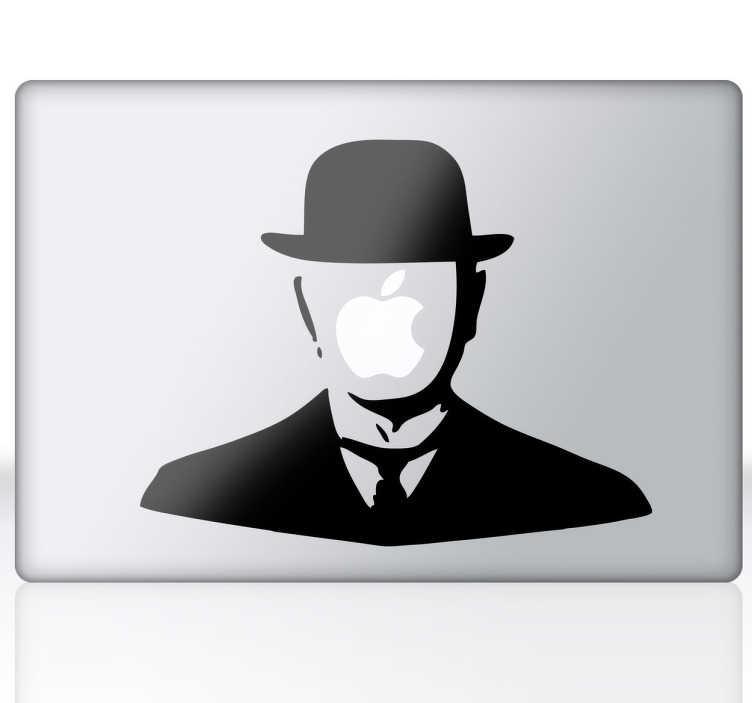 Vinilo personaje Magritte para mac