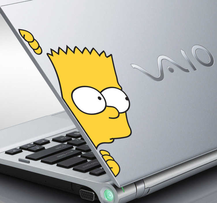 Sticker PC portable Bart Simpson couleur