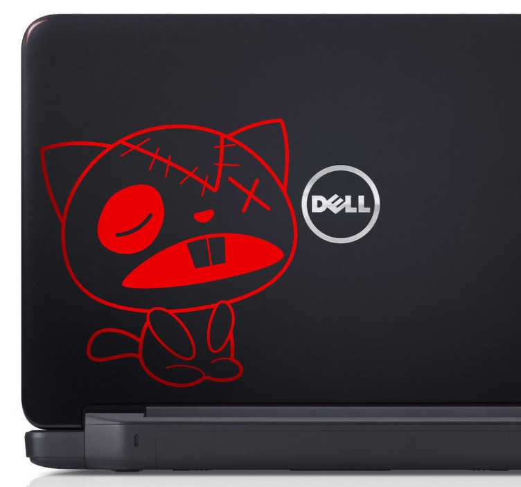 TenStickers. Cat Rag Laptop Sticker. Laptop Stickers - Cat themed design of a ragdoll cat sighing, great for customising your laptop in a unique and interesting way. Add a touch of personality to your MacBook, iPad or tablet with this cool cartoon design available in 50 different colours.