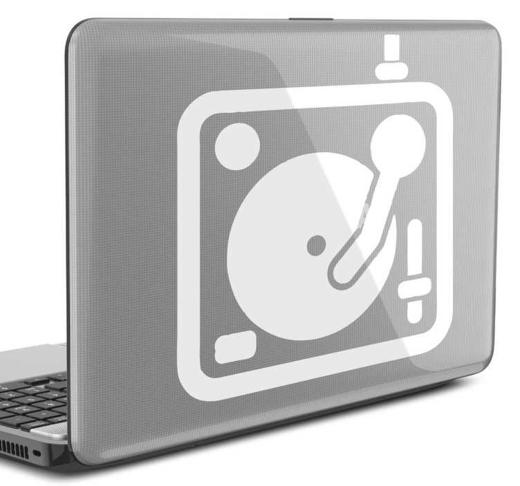 sticker dessin dj pour pc portable tenstickers. Black Bedroom Furniture Sets. Home Design Ideas