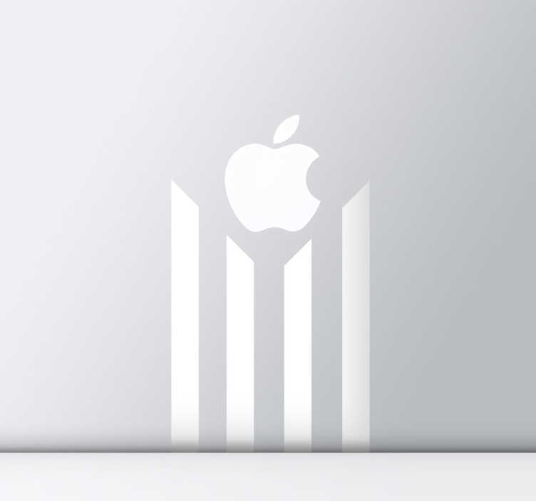 TenStickers. Katalanischer Apple Mac Sticker. Mac Stickers - Design inspiriert durch die Flagge von Katalunien, eine Provinz im nord-osten von Spanien. Unabhängigkeitsbewegung.