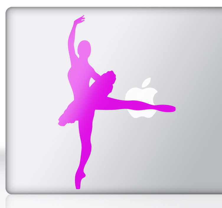 TenStickers. Ballerina Silhouette Laptop Sticker. Laptop decals - Ballerina silhouette sticker for your laptop. If you are a lover of ballet or dancing, then show your love for the art with this original and unique laptop sticker.