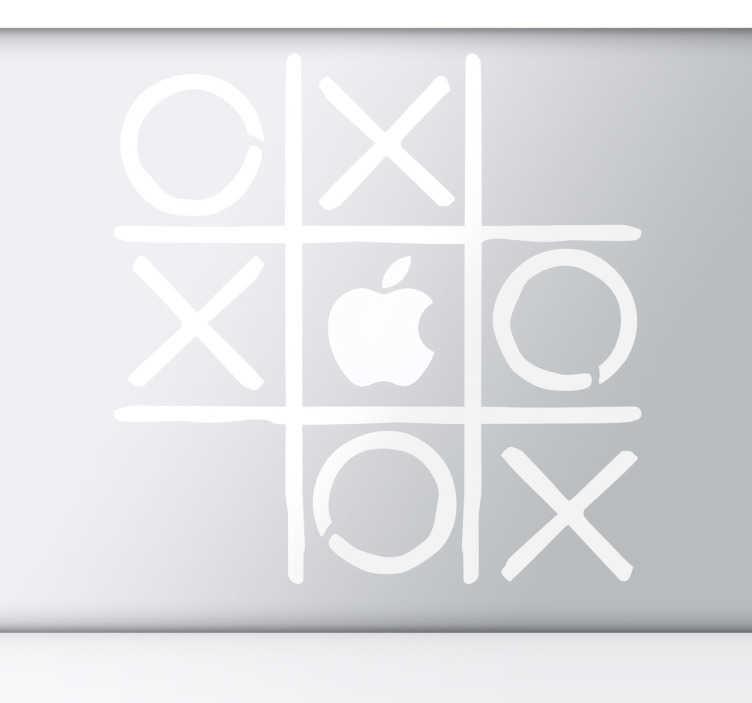 Autocolante decorativo jogo do galo macbook