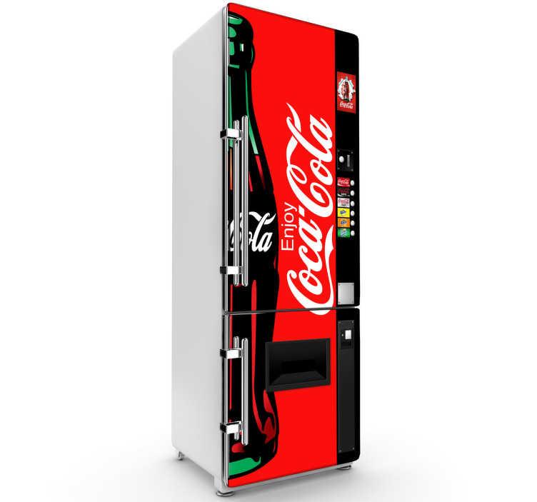 TenStickers. Adesivo decorativo macchinetta CocaCola.