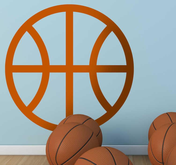 TenStickers. Basketball Icon Decorative Sticker. Decorative decal of a basketball icon! A well known symbol that represents basketball.