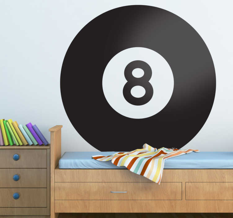 TenStickers. Pool Blackball Sticker. For those that enjoy playing pool this is the perfect sticker to increase your accuracy! Decorate your room and be close to that key ball!