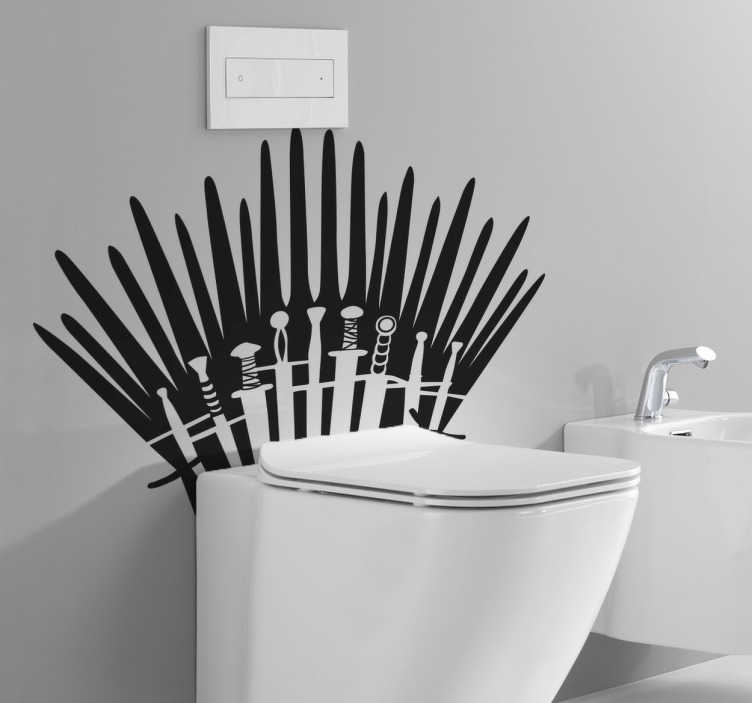 TenStickers. Sticker WC Game of Thrones. Pour les fans de la série à succès Game of Thrones, décorez vos toilettes avec cette collection d'épées sur sticker.