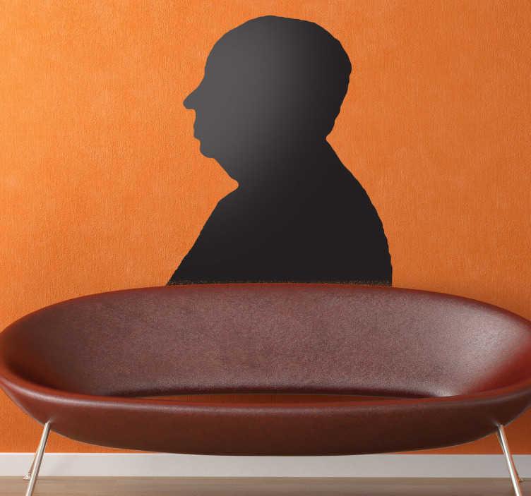 Sticker decorativo silhouette Hitchcock