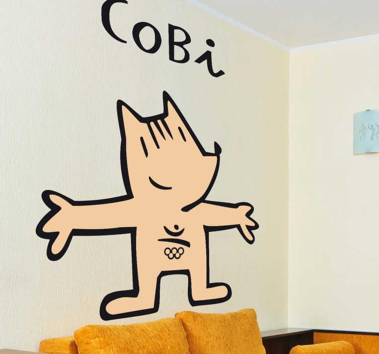 TenVinilo. Vinilo decorativo Cobi Barcelona 92. Adhesivo de la extraña y entrañable mascota diseñada por Javier Mariscal para las mejores olimpiadas de la historia.
