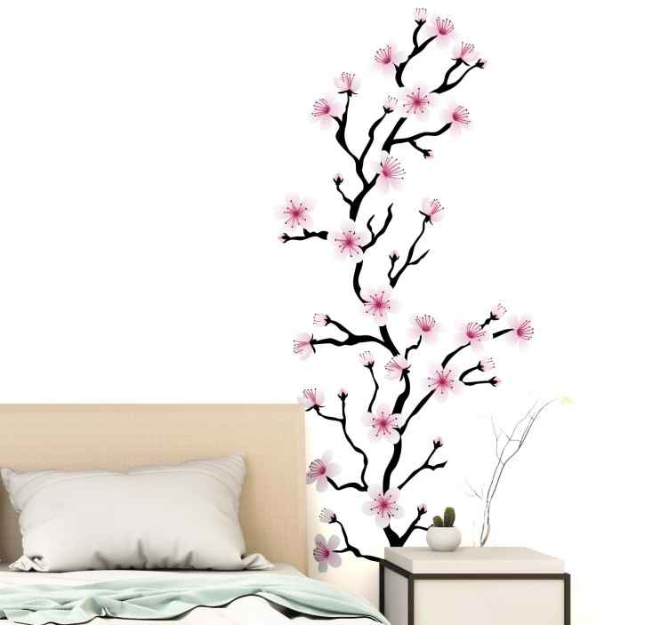 Japanese Cherry Blossom Flower Wall Sticker Tenstickers