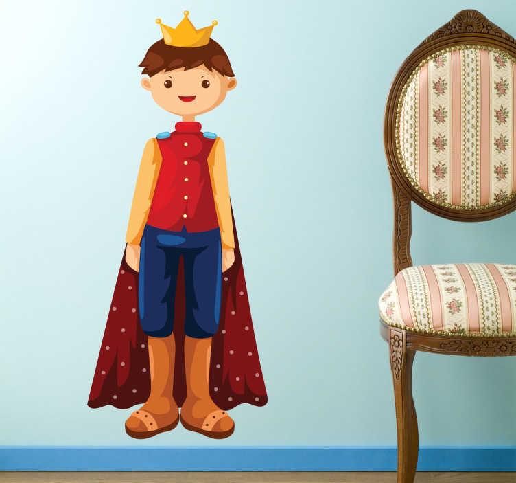 Vinilo infantil ilustración rey