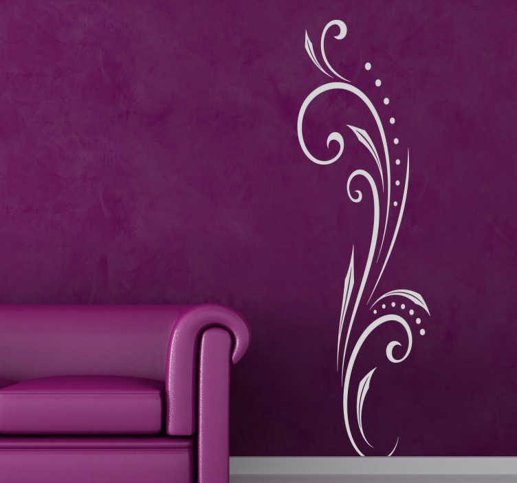 TenStickers. Expressive Line Sticker. The floral design wall sticker is a decorative decal that will look great anywhere in your home. The stylish design has curled, eye-catching lines that your house guests will love