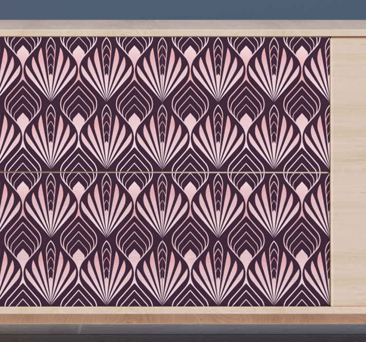 TENSTICKERS. 家具用のバラのデカールの抽象的な手のひらの形. 寝室の家具スペースやその他の家具を飾るためのバラの家具デカールの抽象的な手のひらの形。塗布が簡単で粘着性があります。