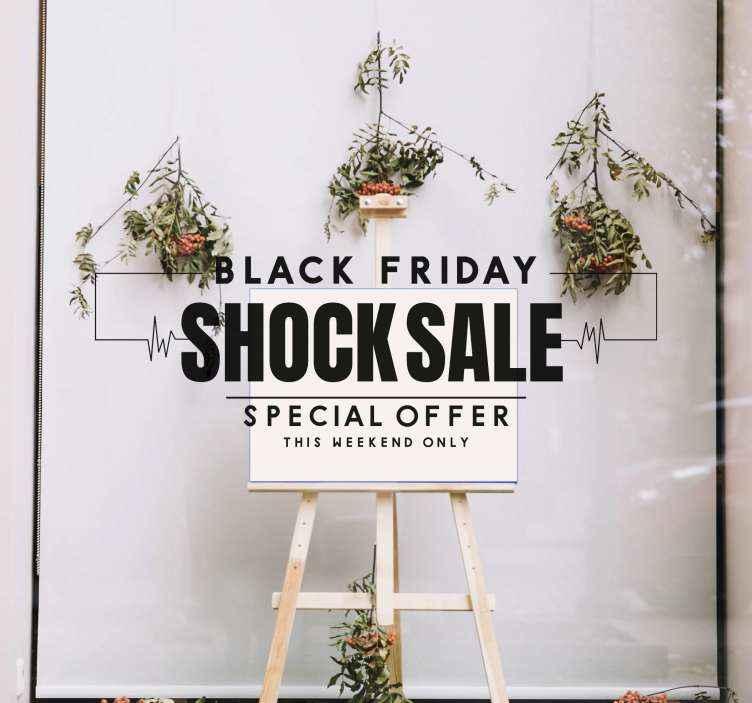 TenVinilo. Black Friday vinilo oferta especial. Este Black Friday vinilo para escaparates es una forma elegante y sencilla de hacer atraer la atención de los potenciales clientes