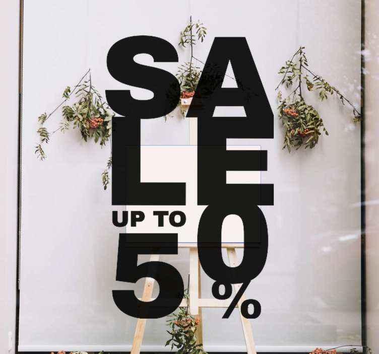 TENSTICKERS. 最大50%のウィンドウデカールの売上高. ショーウィンドウに貼るのにぴったりのブラックフライデーステッカー!今日の最初の購入の10%オフのために私たちのウェブサイトにサインアップしてください。