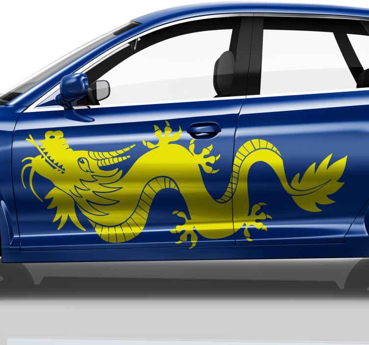 TENSTICKERS. 単色ドラゴンカーデカール. 塗布が簡単で粘着性が高く、表面に残留物を残さずにいつでも取り除くことができます。宅配