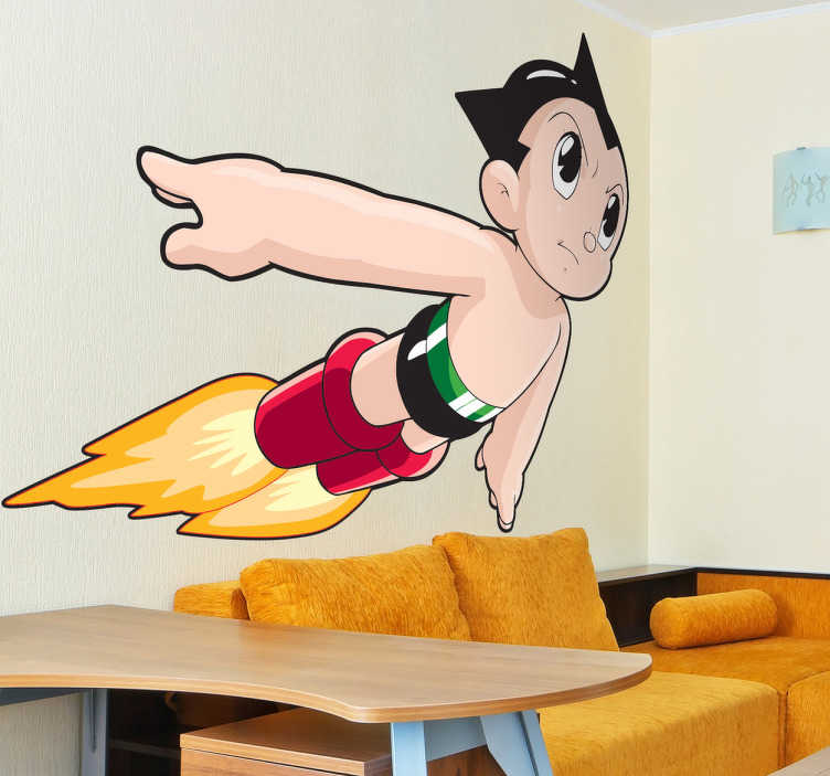 TenStickers. Astro Boy Kids en Sticker. Astro Boy is flying through the room of your kids ... thanks to the new sticker from Tenstickers. Help your son to daydream with our decal Astro Boy.