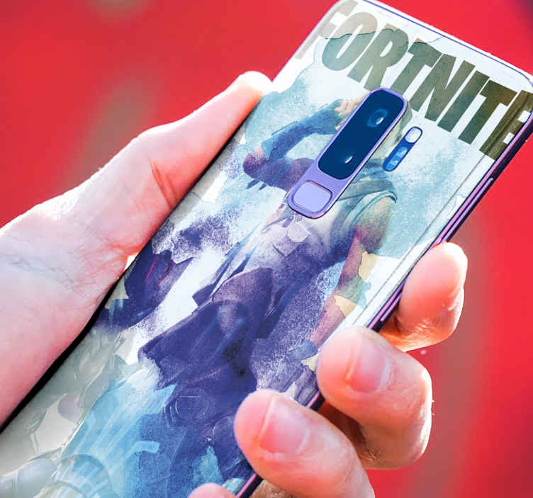 TenVinilo. Skin de Samsung personajes Fortnite acuarela. Skin Galaxy Fortnite de acuarela con personajes en diferentes tonos azulados. Apta para cualquier tapa de Samsung ¡Compra online!