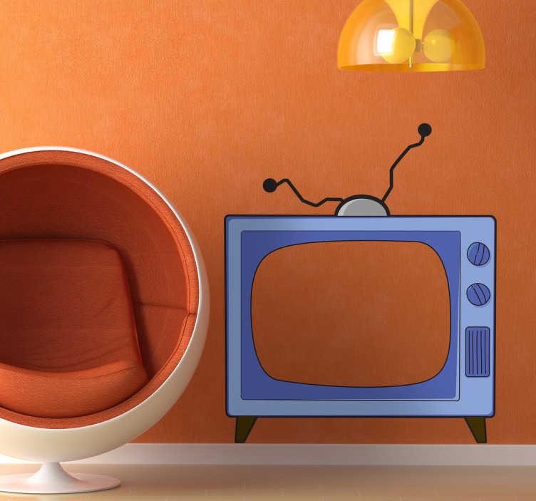TenStickers. Simpsonovi tv nástěnná samolepka. Viděli jste mnohokrát v sofa gag velmi slavné show... To je televize simpsons, který je nyní k dispozici jako nálepka pro váš domov.