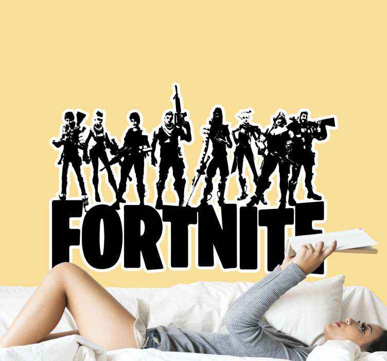 TenStickers. Battle royal theme video game wall sticker. Wall stickers with Fortnite heros, perfect while decorating your flat. Easy to apply on a wall. Made of high quality vinyl.