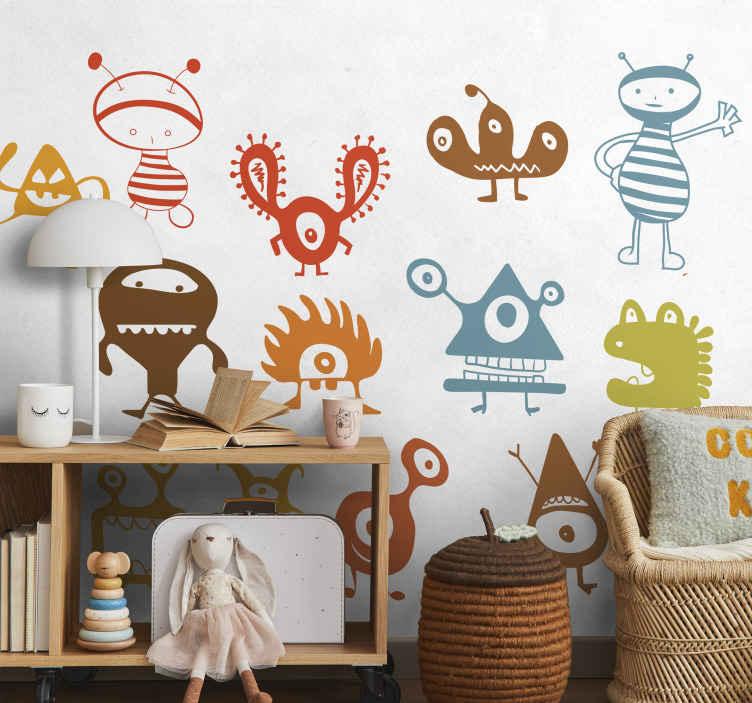 Wandtattoo Kinderzimmer Monstersammlung