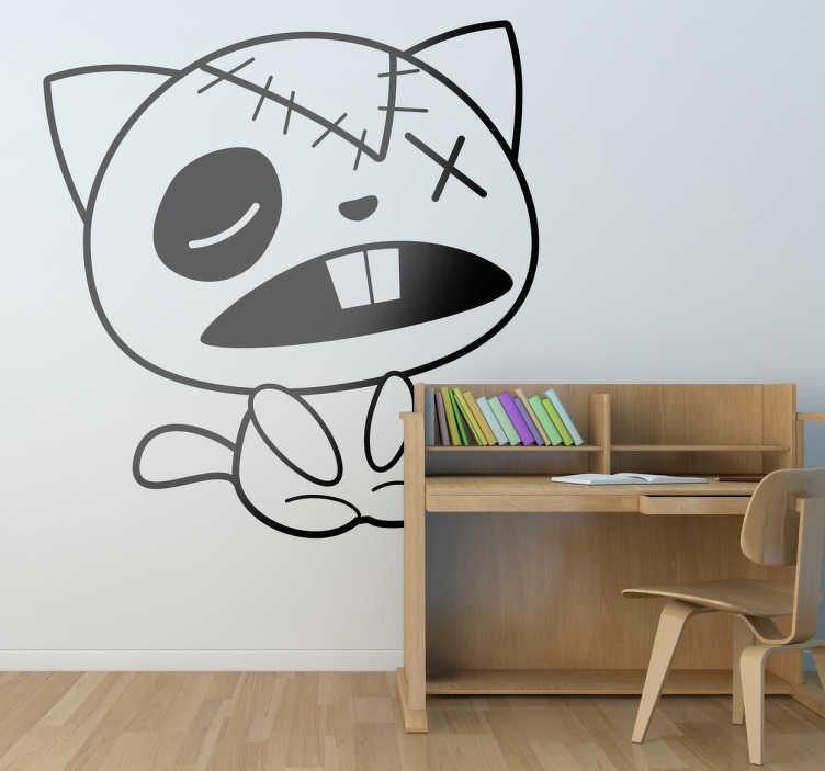 Vinilo decorativo gato de trapo