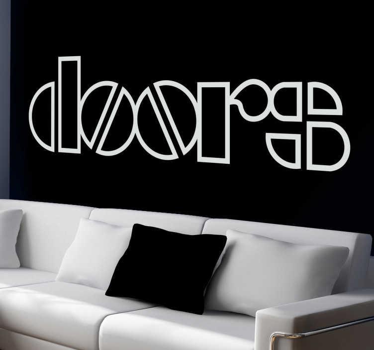 TenStickers. Sticker décoratif logo Doors. Adhésif du logo Doors, groupe mythique américain conduit par le charismatique Jim Morrison.