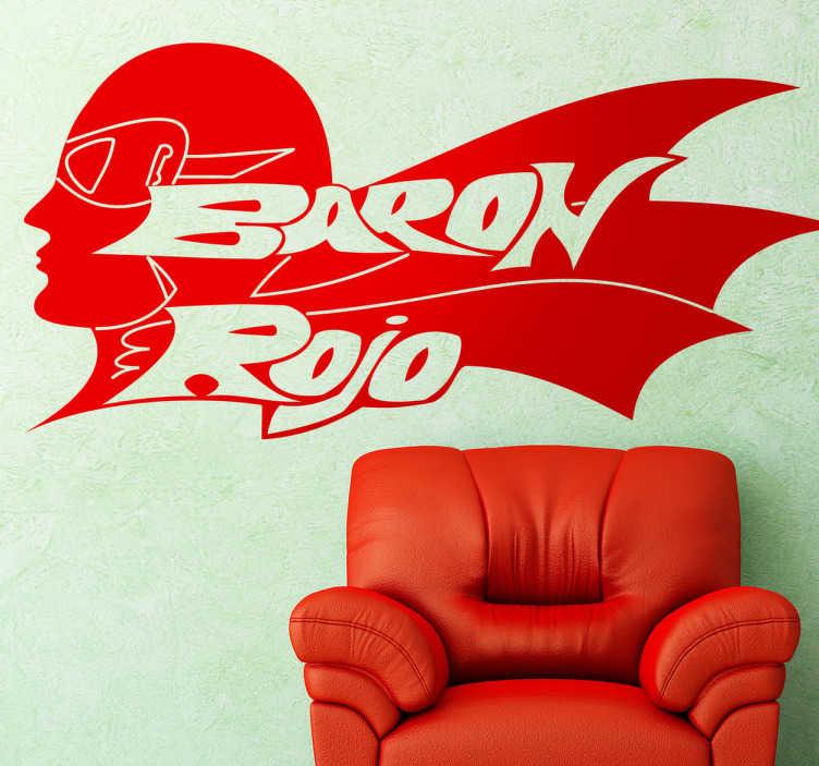 TenVinilo. Vinilo decorativo Barón Rojo. Logotipo adhesivo del grupo heavy ochentero de los hermanos Castro, un referente del rock español.