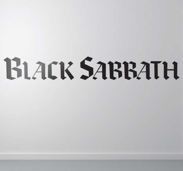 TenVinilo. Vinilo decorativo Black Sabbath. Adhesivo con el logotipo de la famosa banda de heavy fundada por el carismático Ozzy Osbourne.