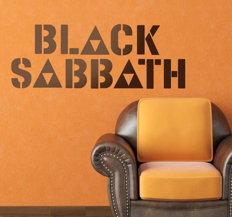 TenStickers. Naklejka dekoracyjna logo Black Sabbath. Naklejka dekoracyjna, która przedstawia logo brytyjskiego zespołu hard-rockowego z Birmingham, Black Sabbath.