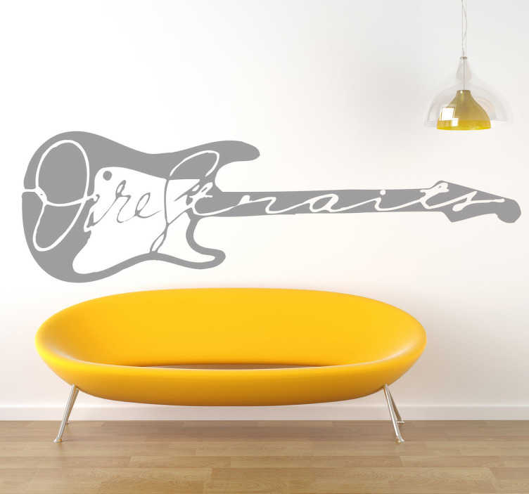 TenStickers. Naklejka dekoracyjna logo Dire Straits. Naklejka dekoracyjna z logiem brytyjskiej grupy rockowej Dire Straits.