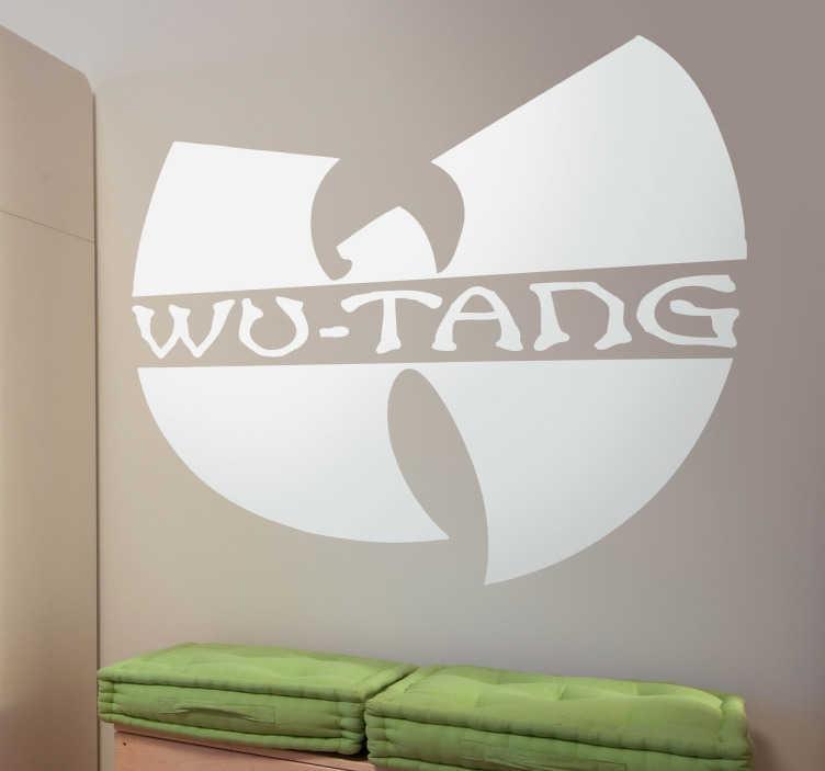 TenStickers. Naklejka dekoracyjna logo Wu Tang. Naklejka dekoracyjna, która przedstawia amerykański zespół grający hip hop.