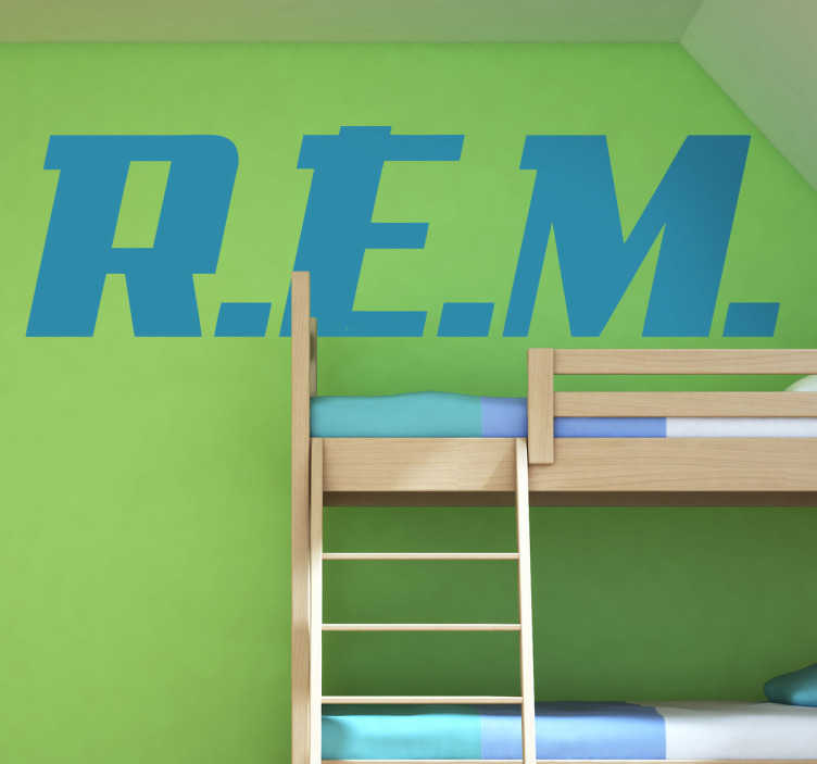 TenStickers. Naklejka dekoracyjna REM. Naklejka dekoracyjna, która przedstawia logo zespołu R.E.M. Obrazek jest dostępny w wielu wymiarach.