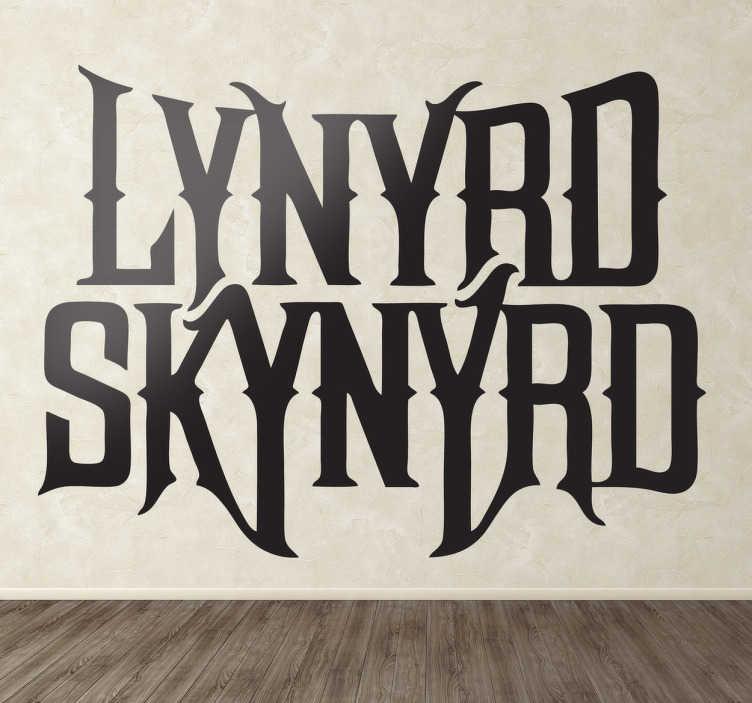 TenVinilo. Vinilo decorativo Lynyrd Skynyrd. Logotipo adhesivo de una de las bandas de rock sureño más conocidas, autora de canciones como Sweet Home Alabama.